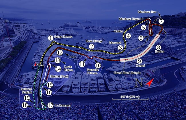 Monaco Grand Prix Circuit Map
